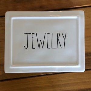 Rae Dunn classic ceramic jewelry box